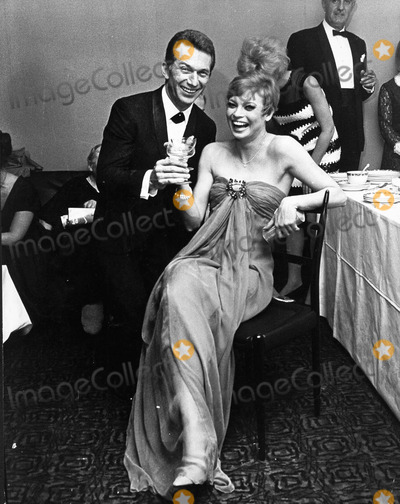 Juliet Prowse Photo - Juliet Prowse with Eddie Gaspar at the Opened in Sweet Charity  the New West End Musical at the Prince of Wales Theatre in London 1967photo by pip-globe Photos Inc
