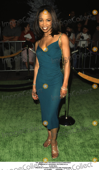 The Grinch Photo - Dr Seuss How the Grinch Stole Christmas Premiere at Universal Pictures in LA Elise Neal Photo by Fitzroy BarrettGlobe Photos Inc 11-8-2000