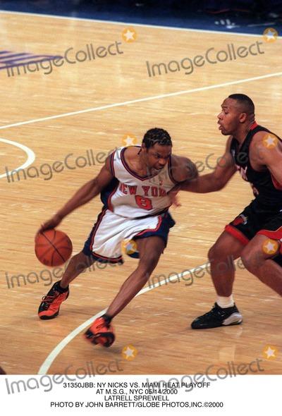 Latrell Sprewell Photo -  NY Nicks Vs Miami Heat Playoff at Msg NYC 05142000 Latrell Sprewell Photo by John BarrettGlobe Photosinc