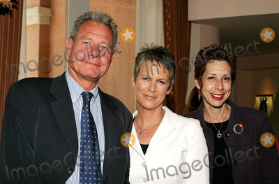 Abbe Land Photo - Laughing Matters Luncheon to Raise Money and Laughs For the Los Angeles Free Clinic at the Beverly Hills Hotel  Beverly Hills CA 5-11-2005 Photo by Jaimie Rodriguez-Globe Photos Inc 2005 Jamie Lee Curtis  Jeff Bujer and Abbe Land