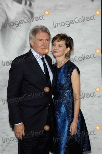 Graumans Chinese Theatre Photo - Harrison Ford and Calista Flockhart During the Premiere of the New Movie From Warner Bros Pictures 42 Held at Graumans Chinese Theatre on April 9 2013 in Los Angeles Photo Michael Germana - Globe Photos