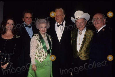 Billy Graham Photo - Billy Graham with Johnny Cash and Wife June Cash  Dale Evans  Ray Rogers and Lt Col Dave Riley 1993 L54621lr Photo by Lisa Rose-Globe Photos Inc