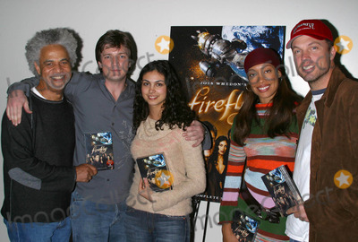 Adam Baldwin Photo - K34392MRDVD RELEASE OF THE SCI-FI ADVENTURE SERIES FIREFLYAT THE SCI-FI CONVENTION AT THE SHRINE AUDITORIUM IN LOS ANGELES CALIFORNIA12212003L TO R RON GLASS NATHAN FILION MORENA BACCARIN GINA TORRES AND ADAM BALDWINPHOTO BY MILAN RYBAGLOBE PHOTOS INC 2003