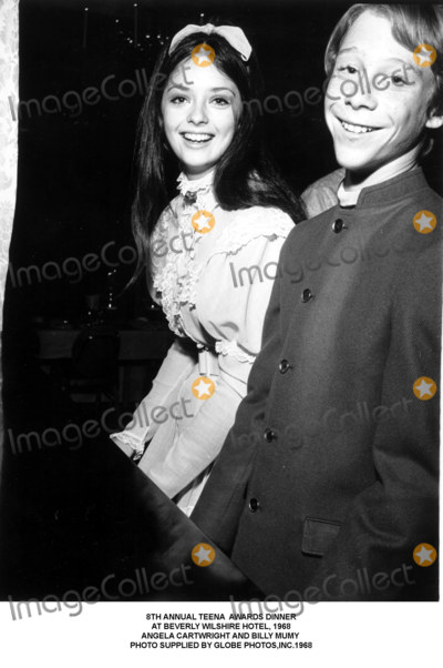 Billy Mumy Photo - Annual Teena Awards Dinner at Beverly Wilshire Hotel 1968 Angela Cartwright and Billy Mumy Photo Supplied by Globe Photosinc
