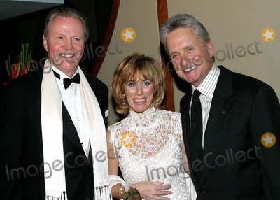 Nancy Spielberg Photo - Children at Heart Gala-celebrity Fantasy Auction at Pier 60  New York City 11-22-2004 Photo by Barry TalesnickipolGlobe Photosinc Jon Voight_michael Douglas_nancy Spielberg