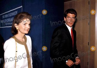 Jackie Onassis Photo - Profile in Courage Award Ceremony at the Jfk Library Boston Mass Jacqueline Kennedy Onassis and John F Kennedy Jr Photobruce Allen  Ipol  Globe Photos Inc Jacquelinekenndeyonassisretro