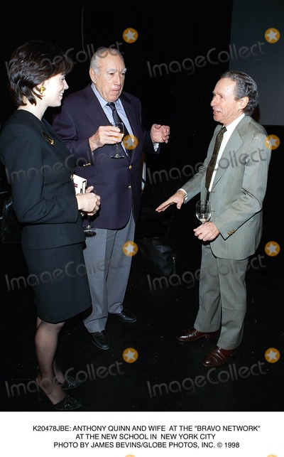 Anthony Quinn Photo -  Anthony Quinn and Wife at the Bravo Network at the New School in New York City Photo by James BevinsGlobe Photos Inc