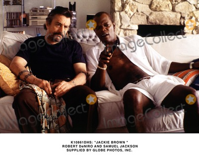Jackie Brown Photo -  Jackie Brown  Robert Deniro and Samuel Jackson Supplied by Globe Photos Inc