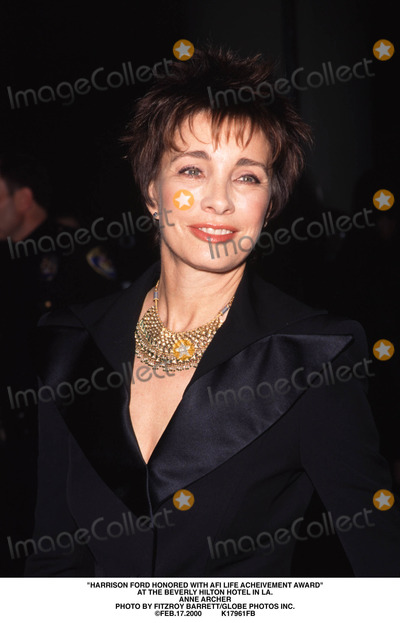 Anne Archer Photo - Harrison Ford Honored with Afi Life Acheivement Award at the Beverly Hilton Hotel in LA Anne Archer Photo by Fitzroy BarrettGlobe Photos Inc Feb172000