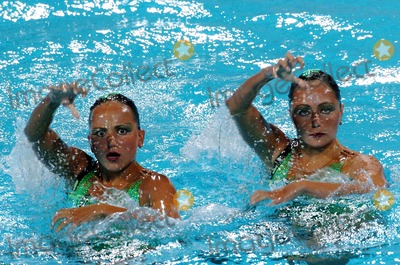 Anastasia Ermakova Photo - 2004 Olympic Games Athens-greece Synchronized Swimming 08232004 Photo by Mattia DalbertolapresseGlobe Photosinc Anastasia Davidova and Anastasia Ermakova