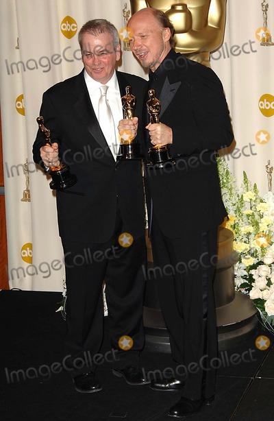 Bobby Moresco Photo - 78th Annual Academy - Oscars Awards (Pressroom) Kodak Theatre Los Angeles CA 03-05-2006 Photo Fitzroy Barrett-Globe Photos Inc 2006 Paul Haggis Bobby Moresco