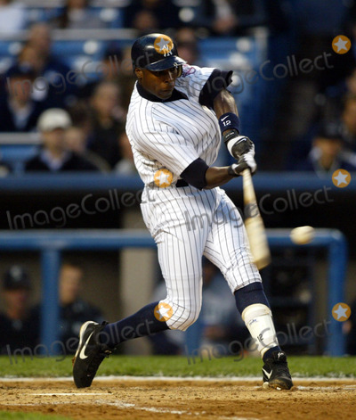 Alfonso Soriano Photo - New York Yankees Vs the Seattle Mariners at Yankee Stadium in the Bronx New York City 4302003 Photo BylcvGlobe Photos Inc 2003 Alfonso Soriano