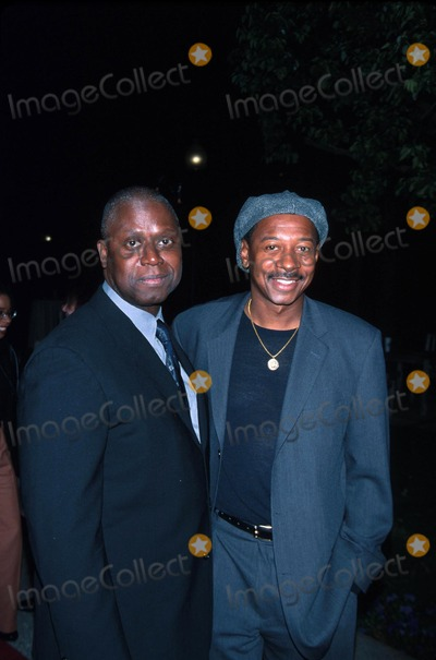 Andre Braugher Photo -  21202 the Film Premiere of 10000 Black Men Named George at the Paramount Theater in Los Angeles CA Andre Braugher with Robert Townsend Photo by Milan RybaGlobe Photos Inc
