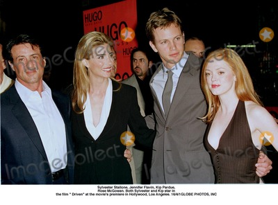 Kip Pardue Photo - Sylvester Stallone Jennifer Flavin Kip Pardue Rose Mcgowan Both Sylvester and Kip Star in the Film  Driven at the Movies Premiere in Hollywood Los Angeles 1641Globe Photos Inc