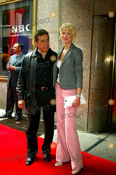 Trisha Helfer Photo - Edward James Olmos and Trisha Helfer 2004-2005 NBC Upfront Party at the NBC Studios in Rockefeller Center New York City 05172004 Photo Sonia Moskowitz Globe Photos Inc 2004
