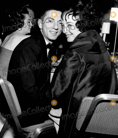 Aaron Spelling Photo - Aaron Spelling with Carolyn Jones at Foreign Awards 03-29-1961 A293-73a Supplied by Globe Photos Inc