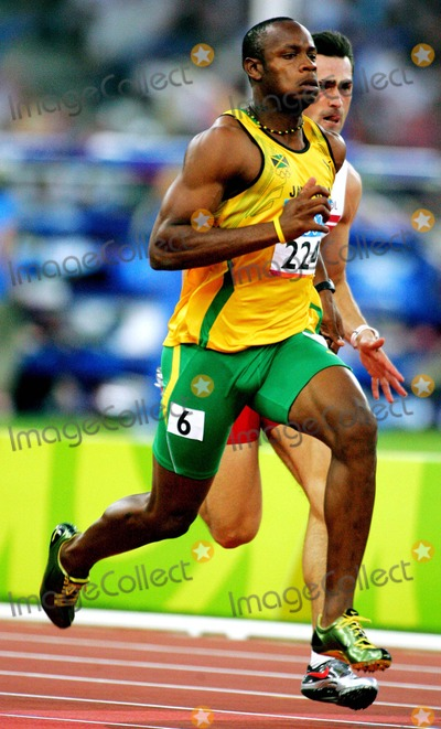 Asafa Powell Photo - Asafa Powell Jamaica Mens 100m Athens Greece Di2546 8222004 Athens 2004 Olympic Games Photo ByallstarGlobe Photos Inc 2004