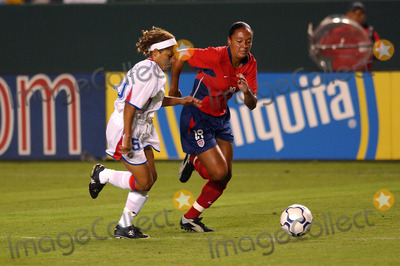 Abby Wambach Photo - Fifa Womens World Cup USA 200 Send Off Match USA Vs Costa Rica at the Home Depot Center in Carson CA 0912003 Photo by Fitzroy Barrett Globe Photos Inc2003 USA Vs Costa Rica Abby Wambach and Gabriela Trujillo