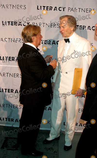 Arnold Scassi Photo - Literacy Partners Host 20th Annual Gala an Evening of Readings at Lincoln Center in New York City 5032004 Photo Byrick MacklerrangefindersGlobe Photosinc 2004 Arnold Scassi and Tom Wolfe