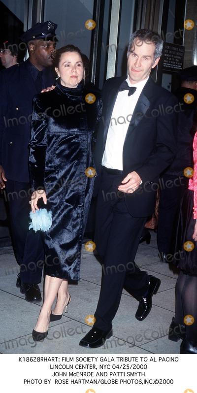 Al Pacino Photo -  Film Society Gala Tribute to AL Pacino Lincoln Center NYC 04252000 John Mcenroe and Patti Smyth Photo by Rose HartmanGlobe Photosinc
