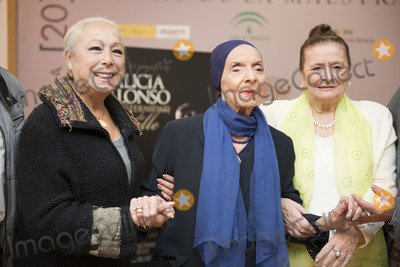 Alicia Alonso Photo - SEVILLE SPAIN November 4 Cristina Hoyos Alicia Alonso and Matilde Corral (L-R) attends the presentation of the book -Alicia Alonso or eternity of Giselle- of the writer Giselle Mayda Bustamante in the theater La Maestranza in Seville Spain