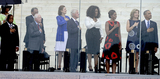 Andrew Young Photo - From left to right United States Representative John Lewis (Democrat of Georgia) Ambassador Andrew Young former US President Jimmy Carter Lynda Bird Johnson Robb former US President Bill Clinton Oprah Winfrey first lady Michelle Obama Ambassador Caroline Kennedy and United States President Barack Obama listen to the National Anthem at the Let Freedom Ring ceremony on the steps of the Lincoln Memorial to commemorate the 50th Anniversary of the March on Washington for Jobs and FreedomCredit Ron Sachs  CNPAdMedia