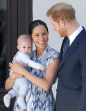 Photo - Prince Harry Duke of Sussex Meghan Markle Duchess of Sussex and son Archie Harrison Mountbatten-Windsor during a visit to the Desmond  Leah Tutu Legacy Foundation in Cape Town South Africa Photo Credit ALPRAdMedia