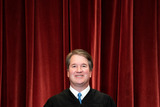 Group Photo Photo - Associate Justice of the Supreme Court Brett Kavanaugh stands during a group photo of the Justices at the Supreme Court in Washington DC on April 23 2021  Credit Erin Schaff  Pool via CNPAdMedia