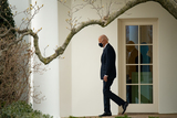 Photos From U.S. President Joe Biden exits the Oval Office at the White House before boarding Marine One in Washington