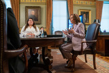 Photo - US Vice President Kamala Harris holds a ceremonial conversation with DACA recipients in the Eisenhower Executive Office Building in Washington DC USA 21 July 2021 Among those in the meeting were Dreamers without DACA and immigrant rights leaders following the Texas District Court decision on DACA Credit Ken Cedeno  Pool via CNPAdMedia