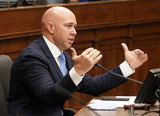 Antony Blinken Photo - United States Representative Brian Mast (Republican of Florida) speaks when US Secretary of State Antony Blinken testifies before the House Committee on Foreign Affairs on The Biden Administrations Priorities for US Foreign Policy on Capitol Hill on Wednesday March 10 2021 in Washington DC  Credit Ken Cedeno  Pool via CNPAdMedia
