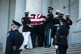 Photo - WASHINGTON DC - APRIL 13 The casket of Capitol Police Officer William Billy Evans is carried out after laying in Honor on Capitol Hill on Tuesday April 13 2021 in Washington DC Credit Jabin Botsford  Pool via CNPAdMedia