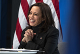 Photo - Vice President Harris participates in a virtual roundtable on the American Rescue Plan in Washington DC