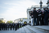 Photo - WASHINGTON DC - APRIL 13 The casket of United States Capitol Police Officer William Billy Evans is carried out after laying in Honor on Capitol Hill on Tuesday April 13 2021 in Washington DC Credit Jabin Botsford  Pool via CNPAdMedia