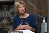 Alaska  Photo - United States Senator Lisa Murkowski (Republican of Alaska) asks a question during a US Senate Senate Health Education Labor and Pensions Committee Hearing to examine COVID-19 focusing on an update on the federal response at the US Capitol on September 23 2020 in Washington DCCredit Alex Edelman  Pool via CNPAdMedia