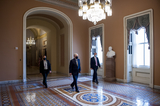 Photos From McConnell Walks to the US Senate Chamber