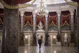 Photos From United States Senator Patrick Leahy (Democrat of Vermont) walks alone back to the Senate side of the US Capitol after visiting the House chamber during a vote.