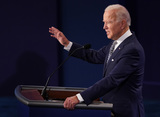 Photo - Democratic presidential nominee Joe Biden speaks during the first of three scheduled 90 minute presidential debates with President Donald Trump Cleveland Ohio on Tuesday September 29 2020 Credit Kevin Dietsch  Pool via CNPAdMedia