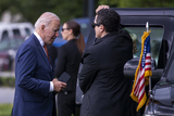 Photos From US President Joe Biden returns to the White House