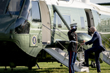 Marine One Photo - US President Joe Biden boards Marine One on the Ellipse of the White House in Washington DC US on Friday April 16 2021 Biden will travel to Wilmington Delaware for the weekend Credit Stefani Reynolds  Pool via CNPAdMedia
