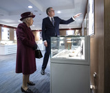 Andrew Parker Photo - 25022020 - Director General  Andrew Parker and Queen Elizabeth II during a visit to the headquarters of MI5 at Thames House in London Photo Credit ALPRAdMedia