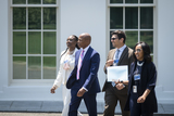 Photos From Eric Adams Visits the White House in Washington, DC