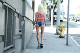 Photo - Frenchy Morgan spotted out wearing scandalous tiny shorts