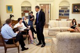 Alyssa Mastromonaco Photo - Washington DC - August 13 2009 -- United States President Barack Obama Oval Office listens to Valerie Jarrett during a meeting with senior staff in the Oval Office August 13 2009 From left White House Press Secretary Robert Gibbs  Jarrett White House Chief of Staff Rahm Emanuel and Assistant to the President Mona Sutphen  Seated at far right is Alyssa Mastromonaco Director of Scheduling MANDATORY CREDIT Pete SouzaWhite House-CNP-PHOTOlinknet