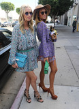 Photos From Nicky Hilton and Paris Hilton are seen in Los Angeles