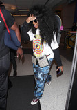 Photos From SZA is seen at LAX Airport in Los Angeles