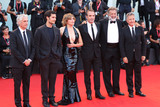 Alain Goldman Photo - VENICE ITALY - AUGUST 30 (L-R) Alain Goldman Louis Garrel Emmanuelle Seigner Jean Dujardin Luca Barbareschi and Paolo Del Brocco walk the red carpet ahead of the JAccuse (An Officer And A Spy) screening during the 76th Venice Film Festival at Sala Grande on August 30 2019 in Venice Italy(Photo by Laurent KoffelImageCollectcom)