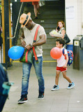 The Subways Photo - August 24 2015 New York CityActor Taye Diggs takes his son Walker out on the subway in Manhattan on August 24 2015 in New York CityBy Line Curtis MeansACE PicturesACE Pictures Inctel 646 769 0430