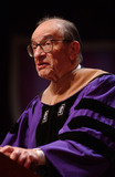 Alan Greenspan Photo - Federal Reserve Chairman Alan Greenspan and British politician Gordon Brown received honorary degrees from New York University