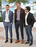Atom Egoyan Photo - Scott Speedman (left) Ryan Reynolds  director Atom Egoyan at the photocall for their movie Captives at the 67th Festival de CannesMay 16 2014  Cannes FrancePicture Paul Smith  Featureflash